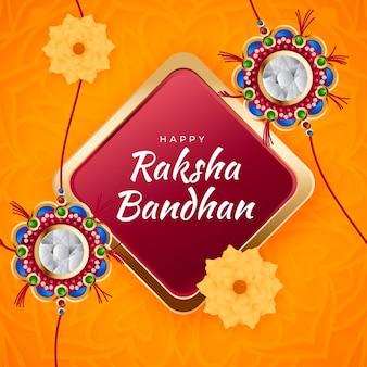 Illustration réaliste de raksha bandhan