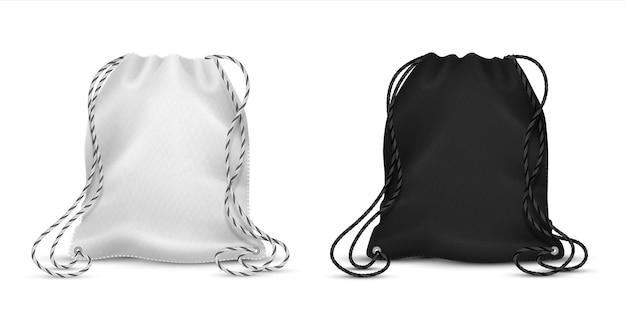 Illustration réaliste de sacs à cordon