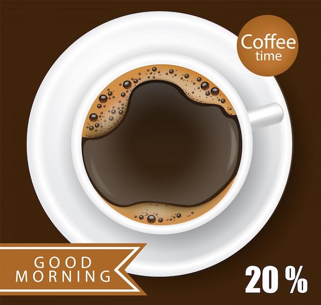Illustration réaliste de tasse de café
