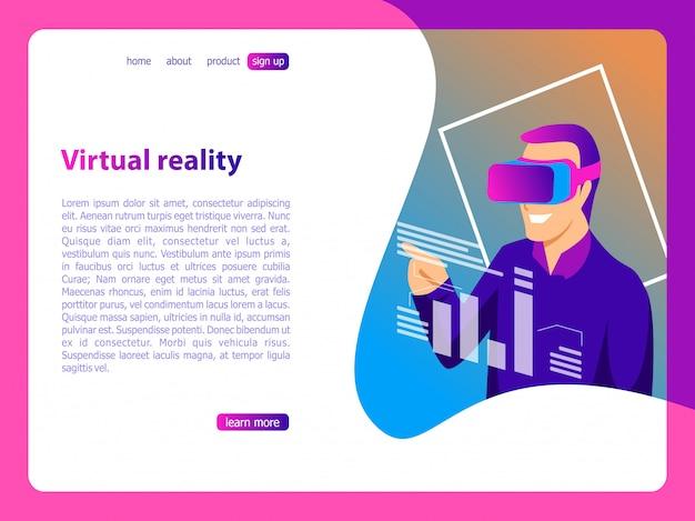 Illustration de réalité virtuelle