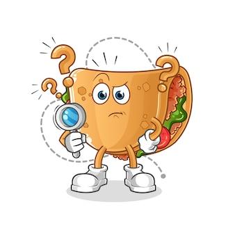 Illustration de recherche de burrito. personnage