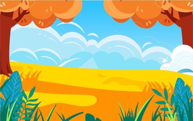 Illustration de la récolte des céréales d'automne les agriculteurs de la ferme récoltent l'affiche des récoltes