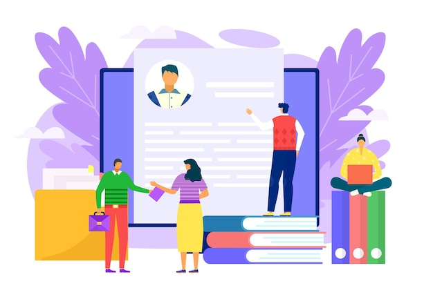 Illustration de recrutement d'emploi