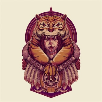 Illustration reine tigres