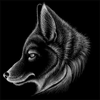 Illustration de renard dessiné à la main