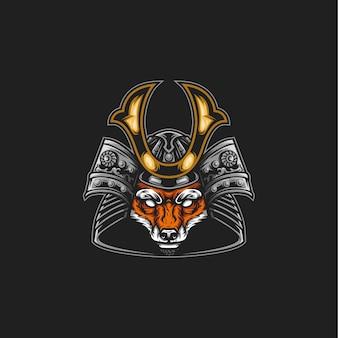 Illustration de renard samouraï