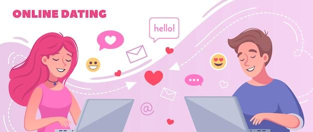 Illustration de rencontres en ligne