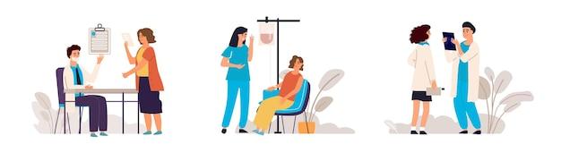 Illustration de rendez-vous chez le médecin