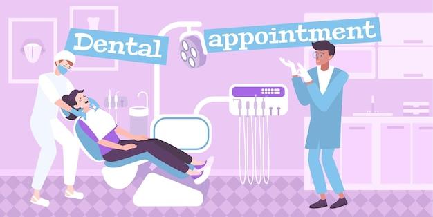 Illustration de rendez-vous dentaire
