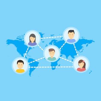 Illustration de réseau social