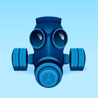 Illustration de respirateur de masque à gaz