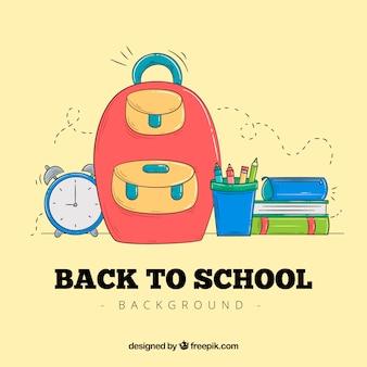 Illustration de retour à l'école avec sac à provisions