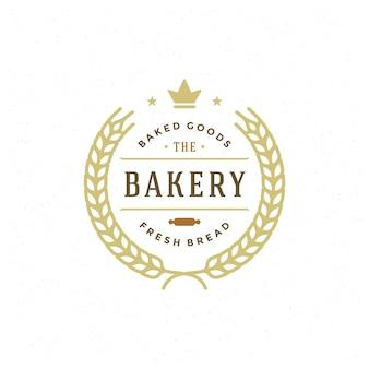 Illustration rétro de badge ou étiquette de boulangerie