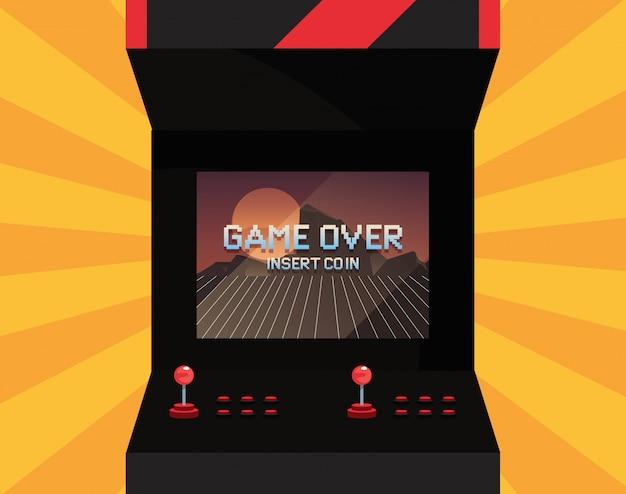 Illustration rétro du jeu vidéo