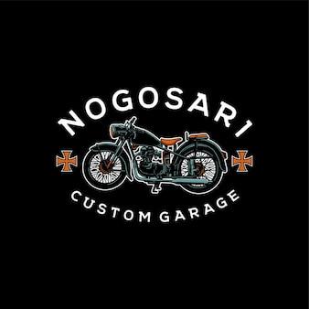 Illustration rétro de moto personnalisée