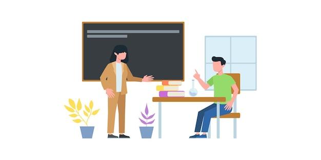 Illustration de réunion d'affaires. cours magistral. homme ayant une conférence téléphonique avec son équipe commerciale en ligne
