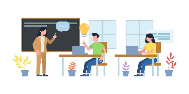 Illustration de réunion d'affaires. cours de réunion de travail en groupe. homme ayant une conférence téléphonique avec son équipe commerciale en ligne