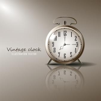 Illustration de réveil vintage