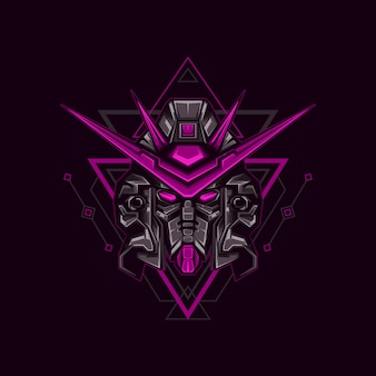 Illustration de robot chevalier noir