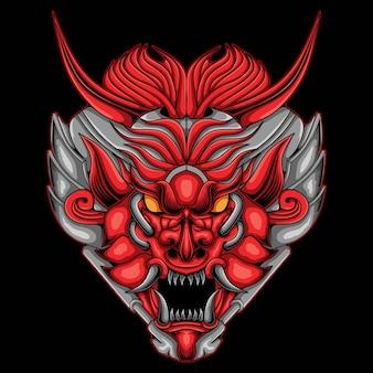 Illustration de robot mecha tête de dragon
