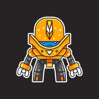 Illustration de robot pour personnage, autocollant, illustration de t-shirt