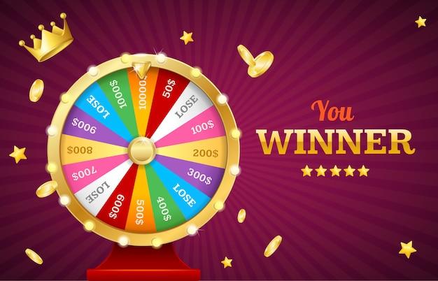 Illustration de la roue de fortune du casino