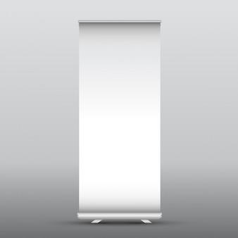 Illustration d'un rouleau en blanc bannière publicitaire