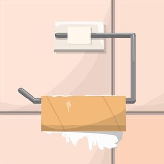 Illustration de rouleau de papier toilette vide