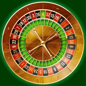 Illustration de la roulette de casino détaillée