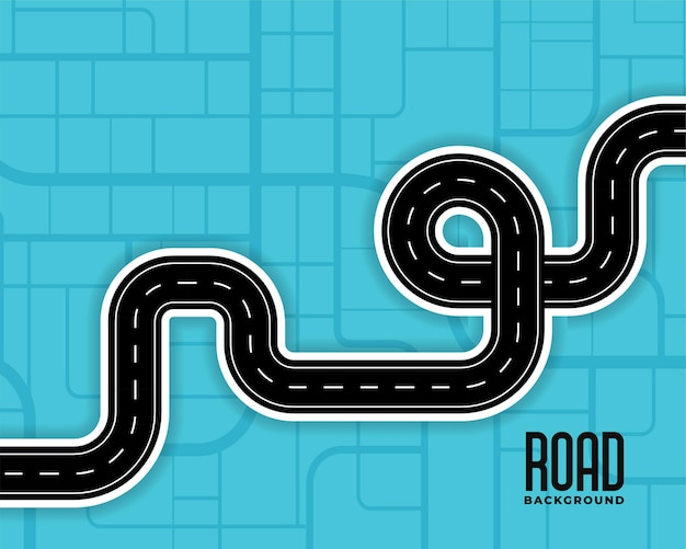 Illustration des routes sinueuses de l'itinéraire de la voie