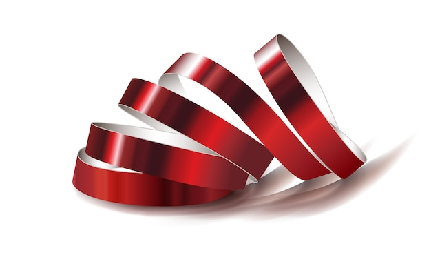 Illustration de ruban rouge festif