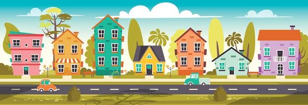 Illustration de la rue du quartier