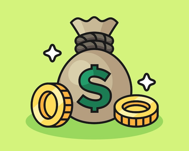 Illustration de sac d'argent