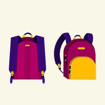 Illustration de sac à dos multicolore