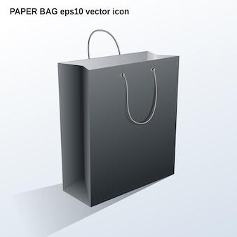 Illustration de sac de papier commercial