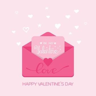 Illustration de la saint-valentin. recevoir ou envoyer des e-mails et sms d'amour, relation longue distance. design plat, vecteur