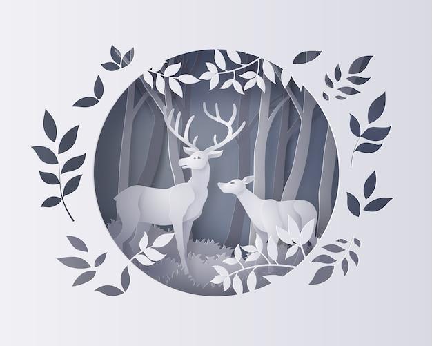 Illustration de la saison d'hiver et du jour de noël