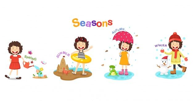 Illustration des saisons