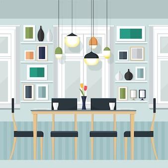 Illustration de la salle à dîner