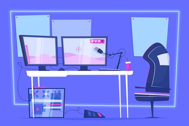 Illustration de la salle de jeu de dessin animé