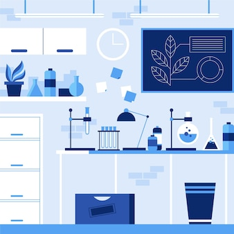Illustration de la salle de laboratoire