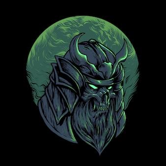 Illustration de samouraï démon japonais