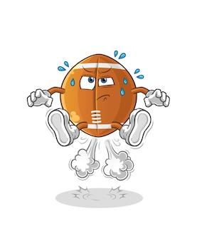 Illustration de saut de pet de ballon de rugby