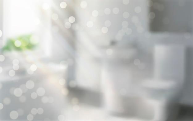 Illustration de la scène intérieure de la salle de bain bokeh