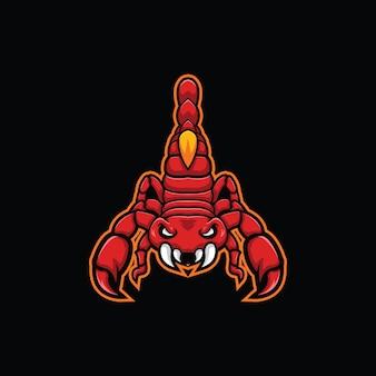Illustration de scorpion rouge