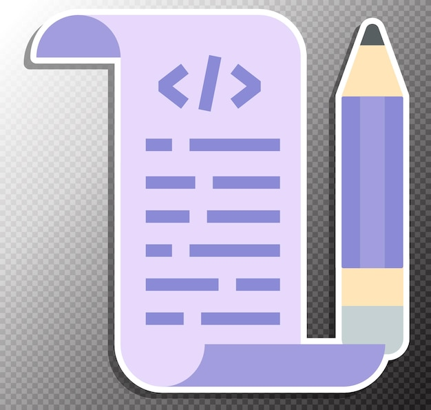 Illustration de script de codage dans un style plat