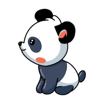 Illustration de la séance de dessin animé mignon petit panda