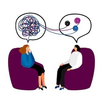 Illustration de la séance de psychothérapie