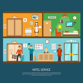 Illustration de service hôtel