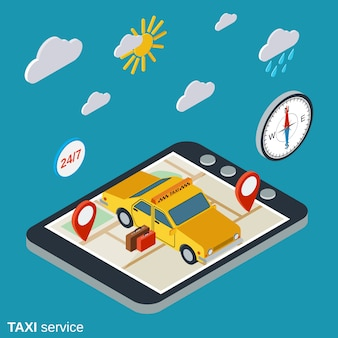 Illustration de service de taxi